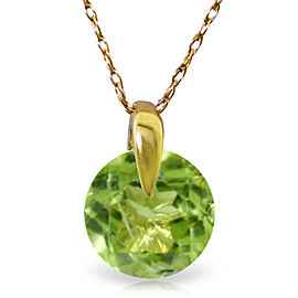 1 CTW 14K Solid Gold Wonders Of Love Peridot Necklace