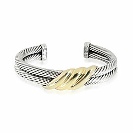 David Yurman Cable Twist Bangle in 14K Yellow Gold/Sterling Silver