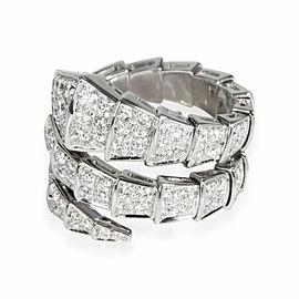 Bulgari Serpenti Diamond Ring in 18K White Gold 2.77 CTW
