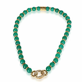 Christian Dior Chalcedony Diamond Necklace in 18K Yellow Gold 0.78 CTW