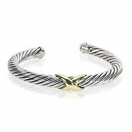 David Yurman Cable X Bangle in 14K Yellow Gold/Sterling Silver