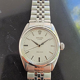 Mens Rolex Oyster Precision Ref 6422 34mm Hand-Wind c1950s Swiss Vintage MA203