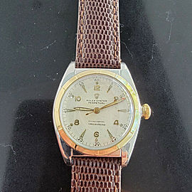 Midsize Rolex Oyster Perpetual Ref 5011 32mm 14k Gold & SS Automatic 1940s MA205