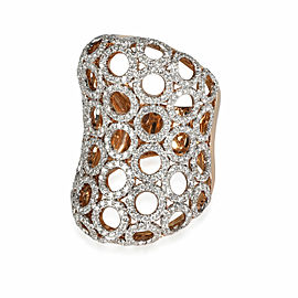 Dynasty Linked Circles Cocktail Ring in 18K Rose Gold