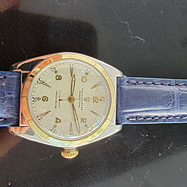 Midsize Rolex Oyster Perpetual 5011 32mm 14k Gold & SS Automatic 1940s MA205BLU