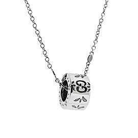 Gucci Icon Blossom Enamel 18k White Gold Necklace New In Gucci