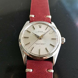 Mens Rolex Oyster Perpetual Ref 1002 34mm Automatic 1960s Vintage RA143RED