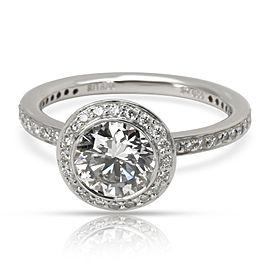 GIA Certified Ritani Diamond Engagement Ring in Platinum H SI1 1.37 CTW