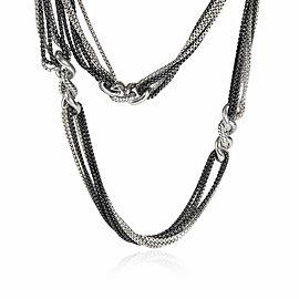 David Yurman Multi-Strand Cable Curb Link Necklace