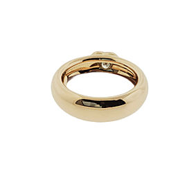 Tiffany & Co 3 Stone Large Heart Round Band In 18k Rose Gold Size 6.5
