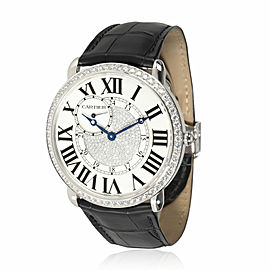 Cartier Ronde Louis Cartier WR007004 Unisex Watch in 18kt White Gold