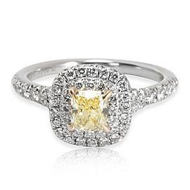 Tiffany & Co. Soleste Diamond Fancy Yellow Engagement Ring in Platinum