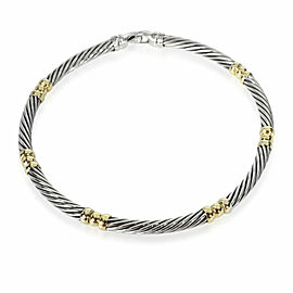 David Yurman Cable Choker Necklace in 14K Yellow Gold/Sterling Silver