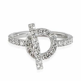 Hermès Finesse Diamond Ring in 18K White Gold 1.05 CTW