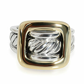 David Yurman Cable Fashion Ring in 18K Yellow Gold/Sterling Silver