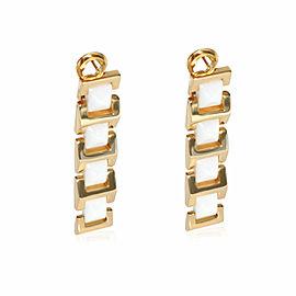 Versace White Ceramic Earring in 18K Yellow Gold