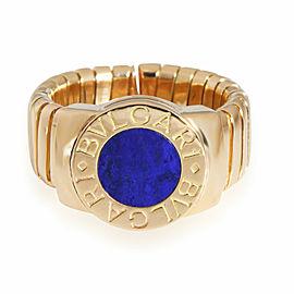 Bulgari Tubogas Lapis Lazuli Ring in 18K Yellow Gold