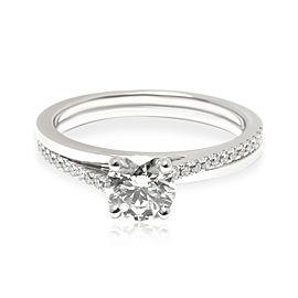 DeBeers Diamond Promise Engagement Ring in Platinum I SI1 0.69 CTW