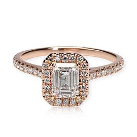 James Allen Emerald Diamond Engagement Ring in 14K Rose Gold GIA E VVS2 1.44 CTW