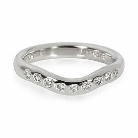 Tiffany & Co. Elsa Peretti Wave Diamond Wedding Band in Platinum 0.06 CTW