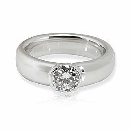 Tiffany & Co. Semi-Bezel Diamond Engagement Ring in Platinum 0.74 CTW