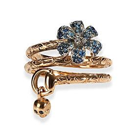 Gucci Flora Sapphire Diamond Ring in 18K Rose Gold 0.01 CTW