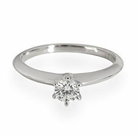 Tiffany & Co. Diamond Solitaire Engagement Ring in Platinum G VS1 0.25 CT