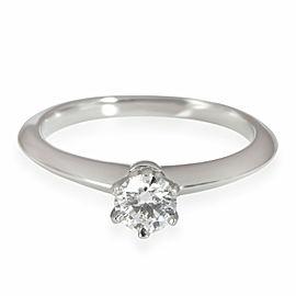 Tiffany & Co. Solitaire Diamond Engagement Ring in Platinum H VS1 0.32 CTW