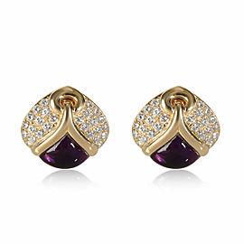 Bulgari Amethyst & Diamond Earring in 18K Yellow Gold 2.60 CTW