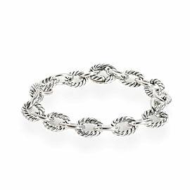 David Yurman Cable Bracelet in 18K White Gold/Sterling Silver