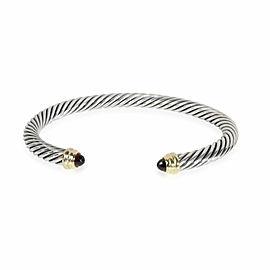 David Yurman Cable Garnet Bangle in 14K Yellow Gold/Sterling Silver