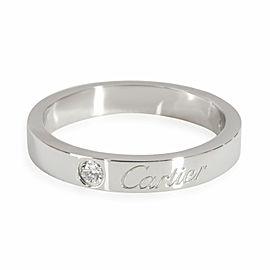 Cartier C de Cartier Diamond Ring in Platinum 0.03 CTW