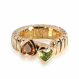 Bulgari Tubogas Bypass Heart Ring in 18K Yellow Gold