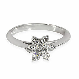 Tiffany & Co. Diamond Cluster Flower Ring in Platinum 0.50 CT