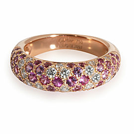 Cartier Etincelle Pink Sapphire Diamond Ring in 18K Rose Gold Pink 0.36 CTW