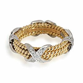 Tiffany & Co. Schlumberger Diamond Band in 18K Yellow Gold/Platinum
