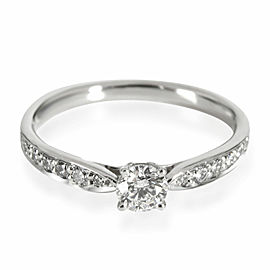 Tiffany & Co. Harmony Diamond Engagement Ring in Platinum G VS1 0.32 CTW