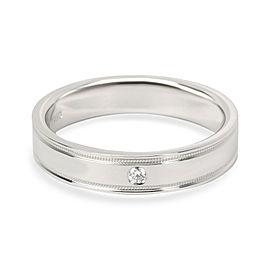 Tiffany & Co. Double Milgrain Diamond Band in Platinum 4mm 0.02 CTW