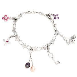 Louis Vuitton Idylle Blossom, Butterfly, Key Charm Bracelet in 18K White Gold