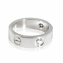 Cartier Love Diamond Ring in 18K White Gold 0.22 CTW