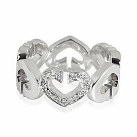 Cartier Hearts & Symbols Diamond Band in 18K White Gold 0.09 CTW