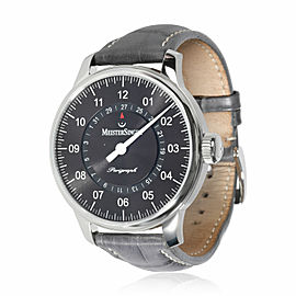 MeisterSinger Perigraph AM1002 Men's Watch in Stainless Steel