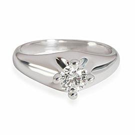 Bulgari Diamond Corona Solitaire Engagement Ring in 18K White E VVS2 0.3 CTW