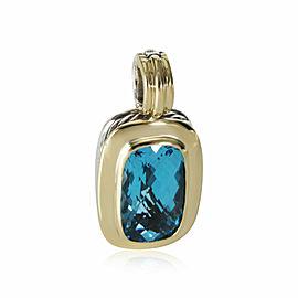 David Yurman Albion London Blue Topaz Pendant in 18K Gold & Sterling Silver