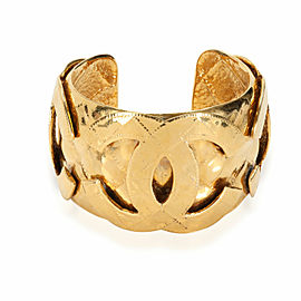Vintage Chanel CC Metalesse 1994 Spring Collection Gold Plated Cuff