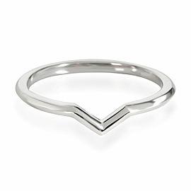 Tiffany & Co. V Wedding Band in Platinum