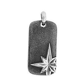 David Yurman North Star Dog Tag In Sterling Silver
