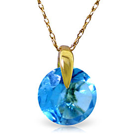 1 CTW 14K Solid Gold Express Yourself Blue Topaz Necklace