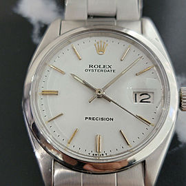 Mens Rolex Oysterdate Precision Ref 6494 34mm Hand-Wind 1950s Vintage RA241