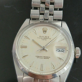 Mens Rolex Oyster Perpetual Date 1500 35mm Automatic 1960s Vintage Swiss RA203